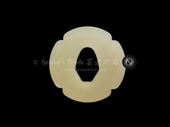 Plastic Tsuba for Bokken (Ivory)