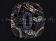 Ryuujin (Dragon God) Brass Tsuba 3