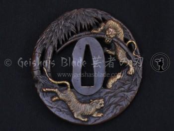 Tora (Tiger) Brass Tsuba
